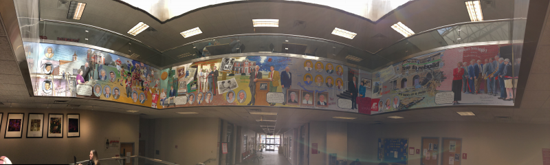 Panorama of the entire mural